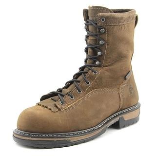 Rocky 6698 Men W Steel Toe Leather Brown Work Boot