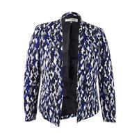 Kasper Women's Abstract-Print Crepe Jacket
