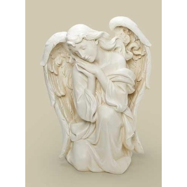 "22.5"" Joseph's Studio Religious Kneeling Angel Outdoor Christmas Nativity Statue - WHITE"