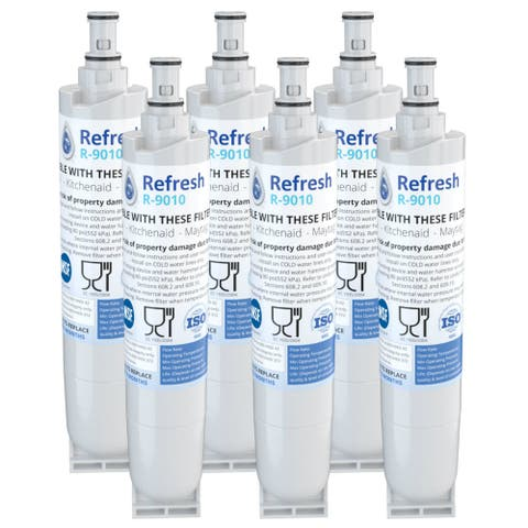 Replacement Water Filter For Whirlpool GD5SHAXLQ02 Refrigerator Water Filter - by Refresh (6 Pack) - White