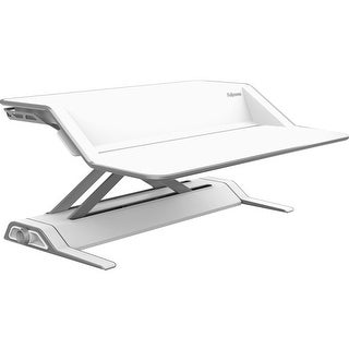 Fellowes 9901 Lotus Sit Stand Workstation White