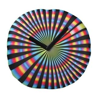 Novelty Wall Clock - Spinning Tie-Dye