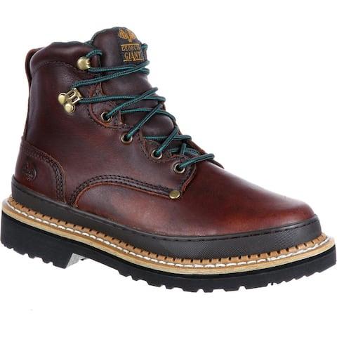 "Georgia Boot - Men's 6"" Brown Leather Work Boot, #G6274"