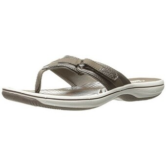 Clarks Womens Breeze Sea, Pewter Synthetic