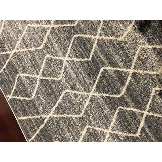 Nuloom Geometric Moroccan Trellis Fancy Grey Area Rug 8