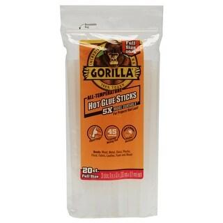 """Gorilla 3032002 Hot Glue Sticks, Clear, 8"""""""