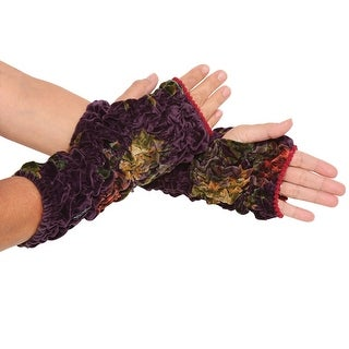 Women's Velvet Cuffs - Lush Ruched Wrist Warmers - Fingerless Gloves - One size