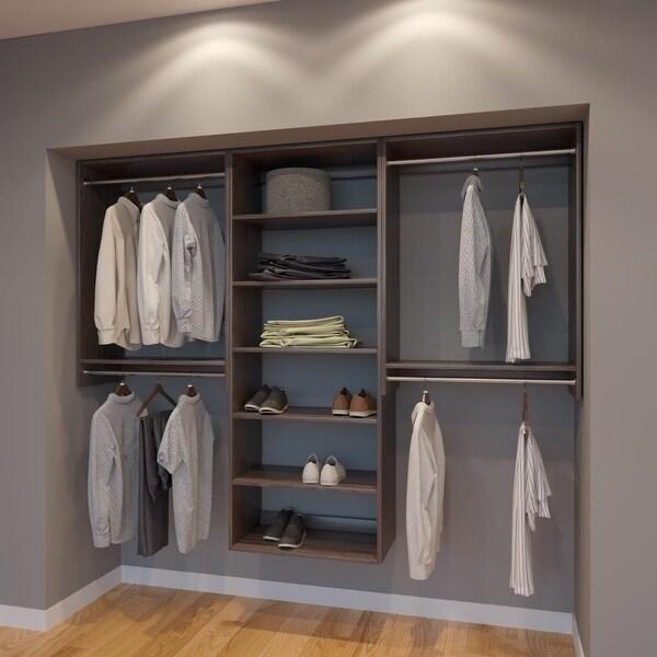 Modular Closets 7 5 Ft Closet Organizer System 90 Inch Style B