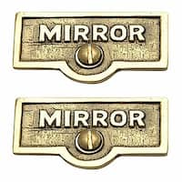 2 Switch Plate Tags MIRROR Name Signs Labels Lacquered Brass | Renovator's Supply