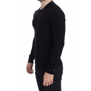 Dolce & Gabbana Black Cashmere Crew-neck Sweater Pullover Top