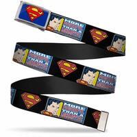 Superman Fcg Blue  Chrome Superman Shield More Powerful Than A Web Belt