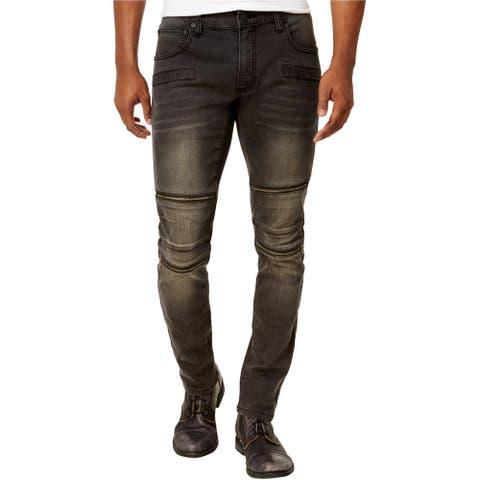 I-N-C Mens Horizon Wash Skinny Fit Jeans, Grey, 36W x 30L