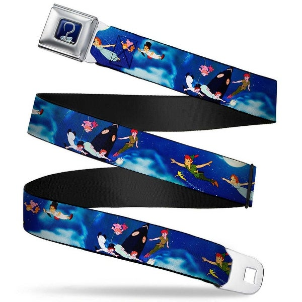 Captain Hook's Hook Full Color Peter Pan Flying Scene Webbing Seatbelt Belt Seatbelt Belt