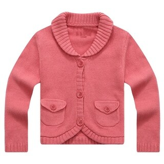 Richie House Baby Girls Magenta Lapel Collar Lovely Cardigan 12M