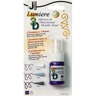 Jacquard Lumiere 3D Metallic Paint & Adhesive Blister Pk 1Oz-Purple
