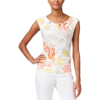 Calvin Klein Womens Casual Top Floral Print Sleeveless (3 options available)