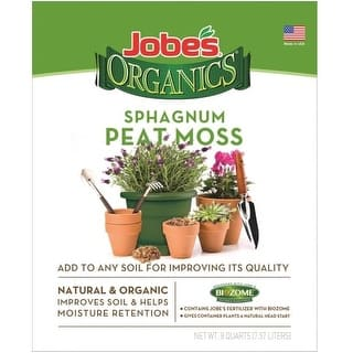 Easy Gardener 08868 Jobes Sphagnum Peat Moss, 8 Quart|https://ak1.ostkcdn.com/images/products/is/images/direct/c95c0fdbf9bfd91755324e414845af557b6ff560/Easy-Gardener-08868-Jobes-Sphagnum-Peat-Moss%2C-8-Quart.jpg?impolicy=medium