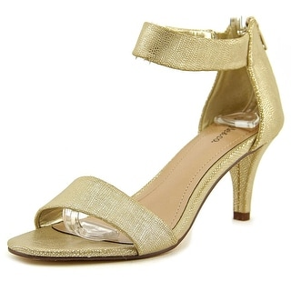 Style & Co Paycee Women Open Toe Synthetic Gold Sandals