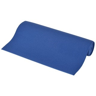 Gymnasium Fitness Exercise PVC Yoga Mat Pad Support Blue 6mm Thickness