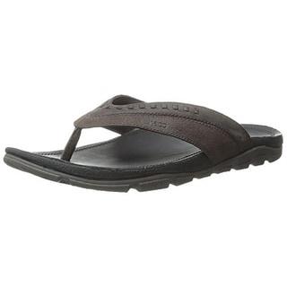 Chaco Mens Finn Leather Thong Flip-Flops - 7 medium (d)