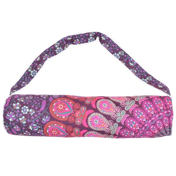 Indian Elephant Tree Yoga Bag Cotton Mandala Mat Carrier Unisex Sports Gym Bag
