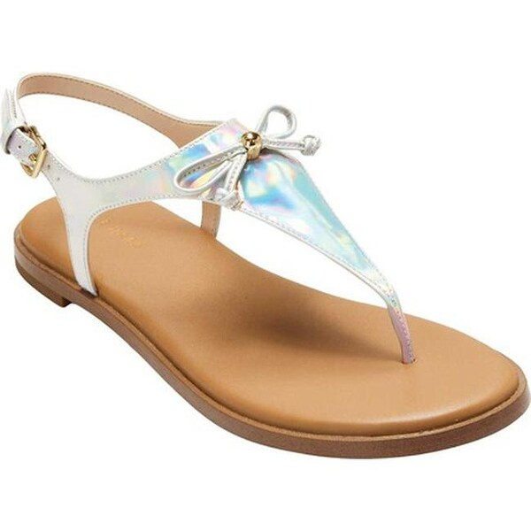 ac98c4753f3 Cole Haan Women  x27 s Findra Thong Sandal Iridescent Specchio Leather