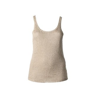Lauren Ralph Lauren Womens Tank Top Sweater Linen Blend Knit