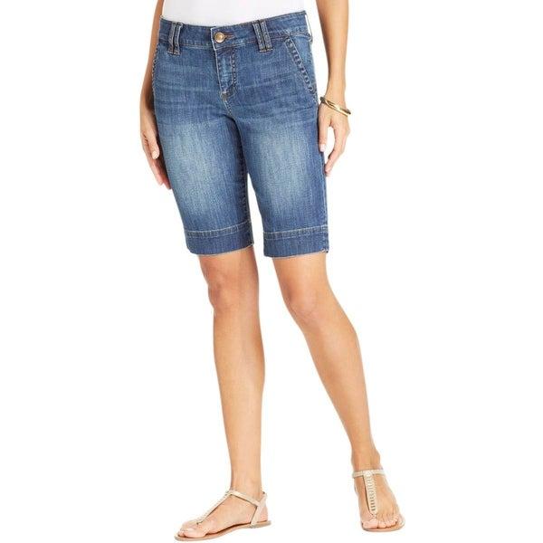 Kut From The Kloth Womens Bermuda Shorts Denim Faded