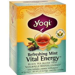 Yogi - Revitalize Energizing Assam Mint Herbal Tea ( 6 - 16 BAG)