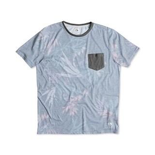 Quiksilver Mens T-Shirt Forrest Printed Crew Neck - L