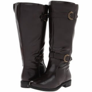 David Tate NEW Dark Brown Shoes Size 6M Mid-Calf Leather Boots