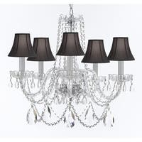 Crystal Chandelier Lighting With Black Shades