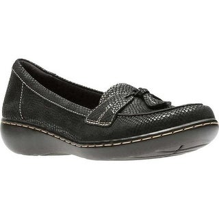 Clarks Women's Ashland Bubble Black Interest Leather
