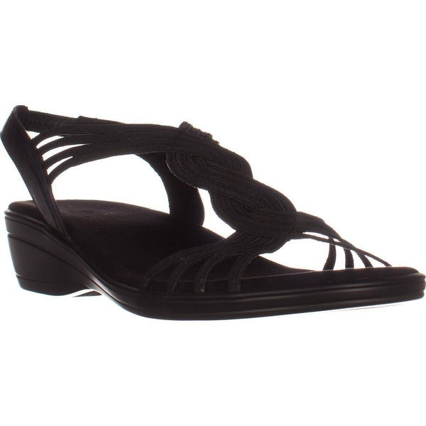 Easy Street Natara Slingback Sandals, Black