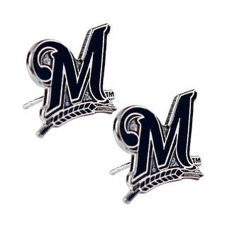 "Milwaukee Brewers ""M"" Post Stud Logo Earring Set MLB Charm"