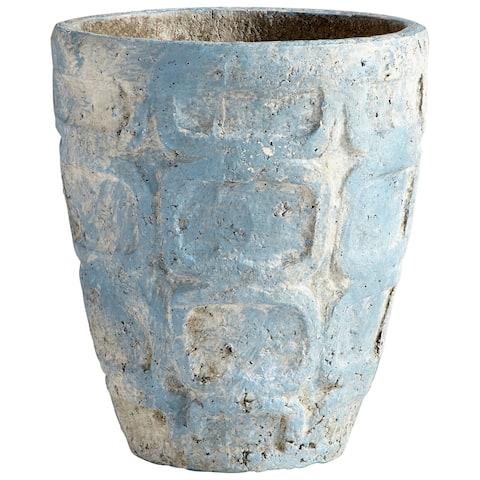 """Cyan Design 09611 Naples 10-1/2"""" Diameter Cement Planter - Antique Blue"""