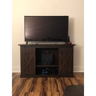 Cottonwood TV Stand for TVs up to 60 inches, Sawcut Espresso