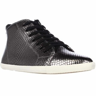 Marc by Marc Jacobs Cara Hi Top Lace Up Fashion Sneakers - Gunmetal