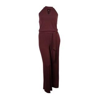 INC Women's Belted Keyhole Halter Jumpsuit (Option: 3x)