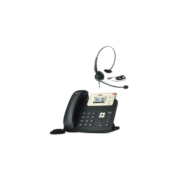 Yealink SIP-T21P-E2 with YHS 33 Entry Level IP Phone with POE with Headset