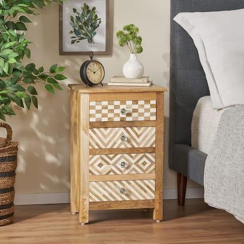 Sandia Mango Wood Nightstand by Christopher Knight Home