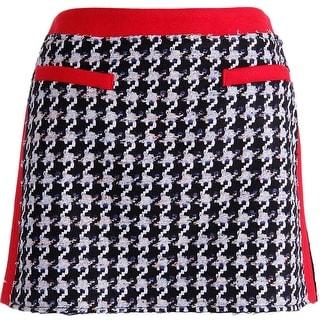 Juicy Couture Black Label Womens Houndstooth Tweed Mini Skirt - 8
