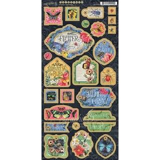 "Flutter Chipboard Die-Cuts 6""X12"" Sheet-Decorative & Journaling"