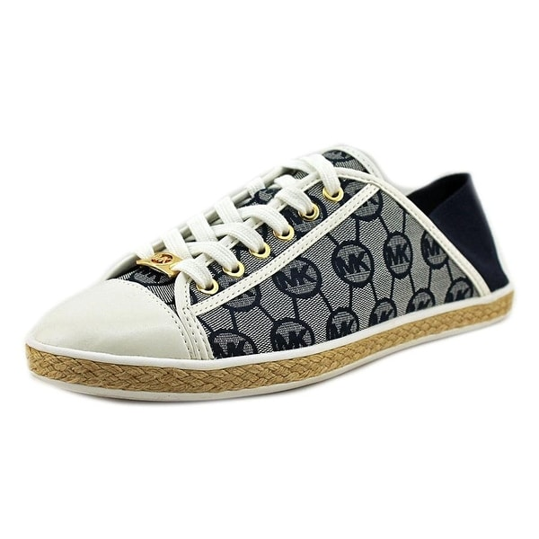 Michael Kors Womens Kristy Canvas Low Top Lace Up Fashion Sneakers