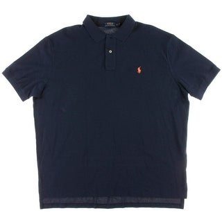 Polo Ralph Lauren Mens Iconic Mesh Embroidered Polo Shirt