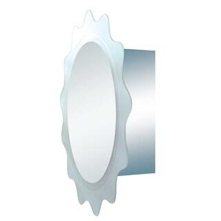 Stainless Steel Medicine Cabinet Round Floral Mirror Door | Renovator's Supply