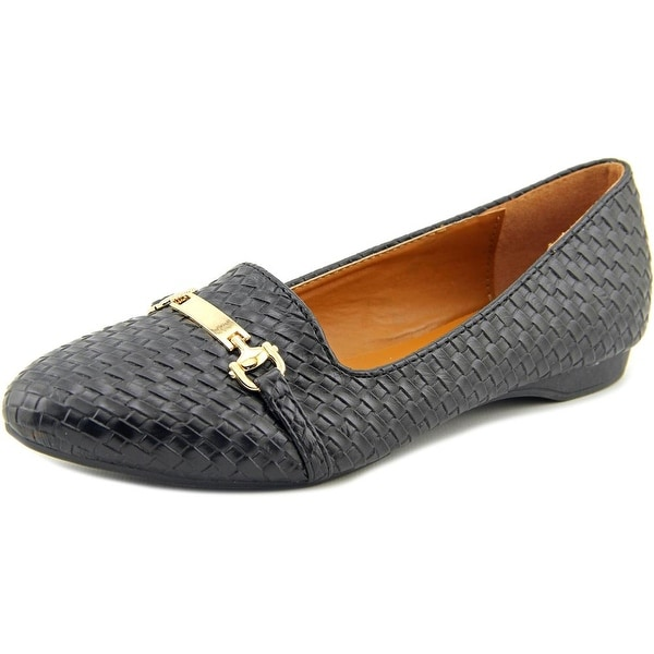 Seven7 Gigi Buckle Women Round Toe Canvas Flats