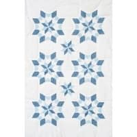 "Xx Star - Stamped White Lap Quilt Top 40""X60"""