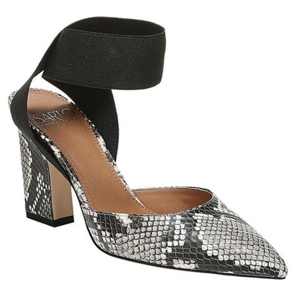 5cf5a623b52a Sarto by Franco Sarto Women's Stella Ankle Strap Heel Natural/Black