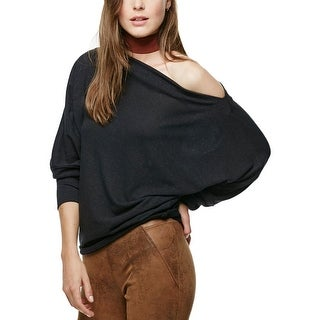 Free People Womens Valencia Casual Top Slouchy Off-The-Shoulder